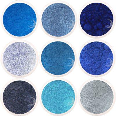moon minerals blauw
