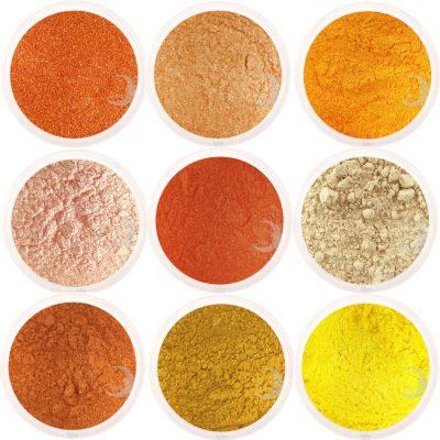 moon minerals oranje geel