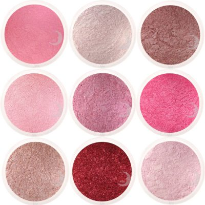 moon minerals roze rood