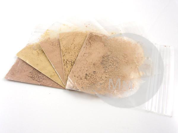moon minerals foundation skin tone match sample